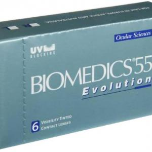 Контактные линзы Biomedics 55 Evolution